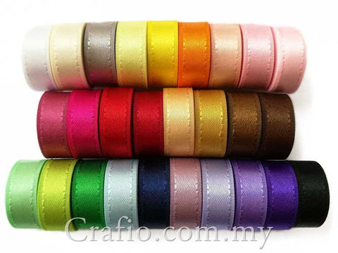 10 mm Taffeta Edge Double Sided Satin Ribbon - 10 meter