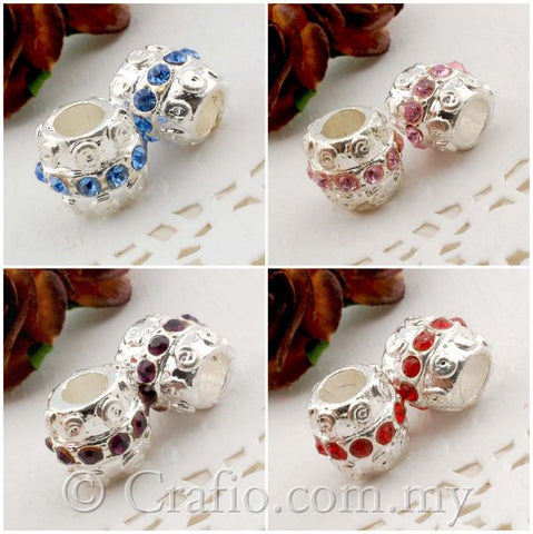 Rhinestone Studded Metal Bead Bauble