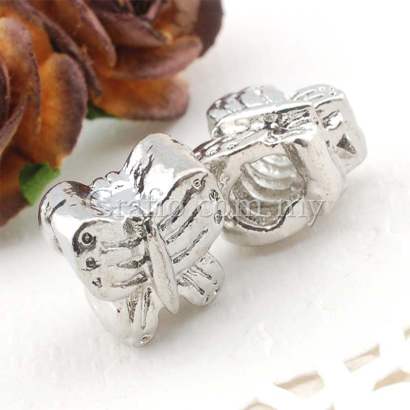Center Threaded Spacer Bead Butterfly