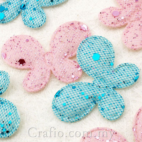 Glittery Butterfly Fabric Embellishment