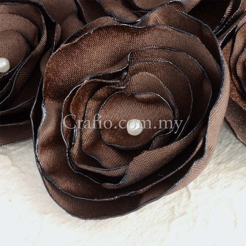 Handmade Burnt Edge Flower Embellishments