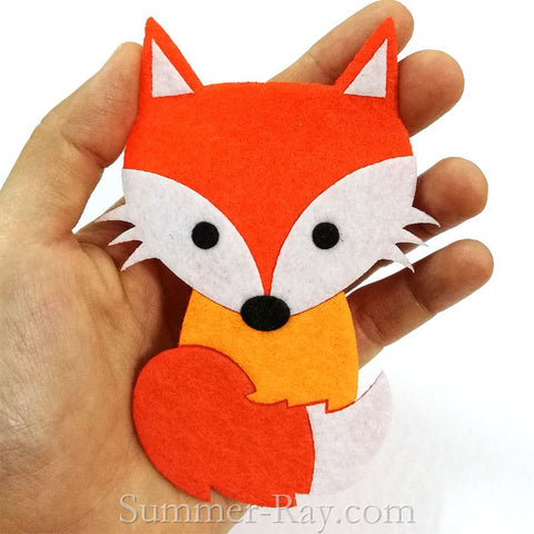 Felt Cut Out - Fox with or without Iron on Backing