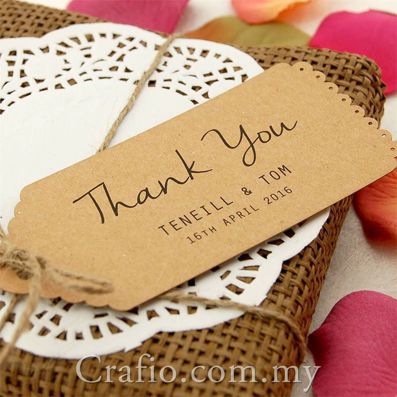 Well-known Personalized Kraft Vintage Lace Wedding Favor Tags/ Thank You Tags  ZP55