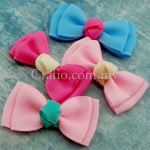 Double Layer Grosgrain Ribbon Bow