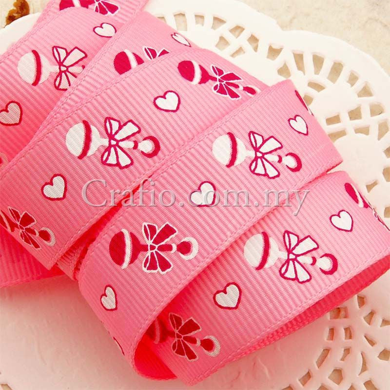 16 mm Sweet Candy Printed Grosgrain Ribbon