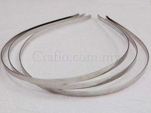 Toothless White Gold Plated Headband