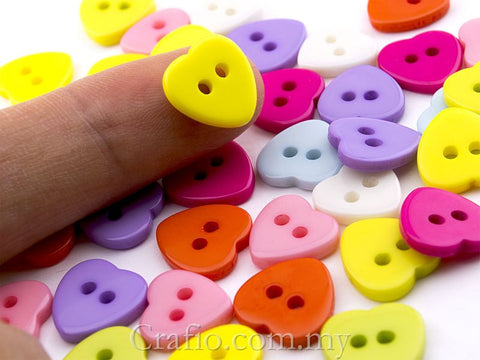 2-eye Heart Doll Buttons