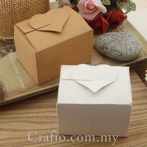 Heart Top Bomboniere Favour Boxes