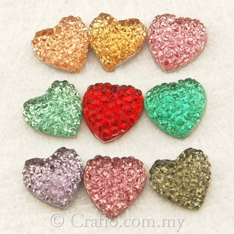 10 mm Icy Heart Rhinestones