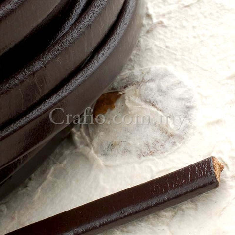 Cord Strings Flat Leather 9mm