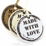 Made with Love Gift Tags with Twine