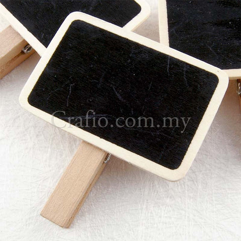 Miniature Blackboard Wooden Embellishments with Clip