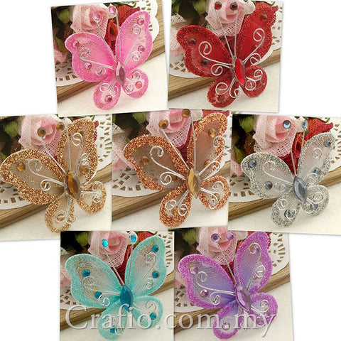 4.5 cm Stocking Butterflies