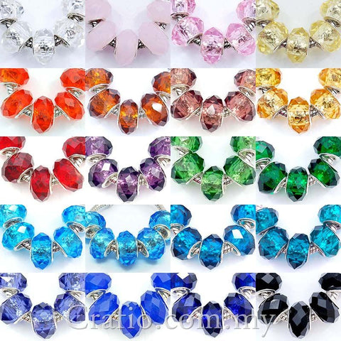 Lampwork Faceted Glass Beads