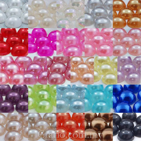 4 mm Flat Back Pearls