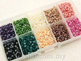 3 mm Flat Back Pearls in Storage Box - Choose Your Own Colors
