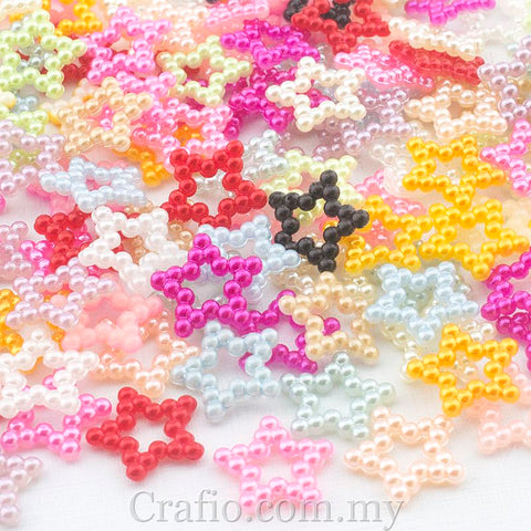 13mm Beaded Pearl Stars