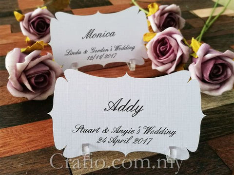 Personalized Elegant Place Card with Acrylic Stand