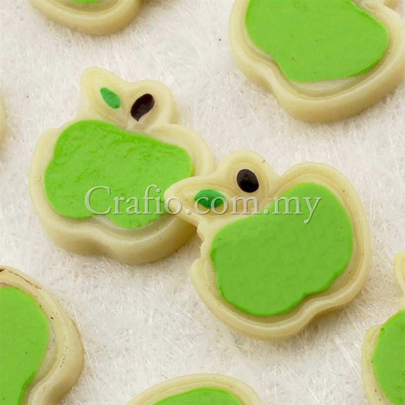 Resin Green Apple Cabochon