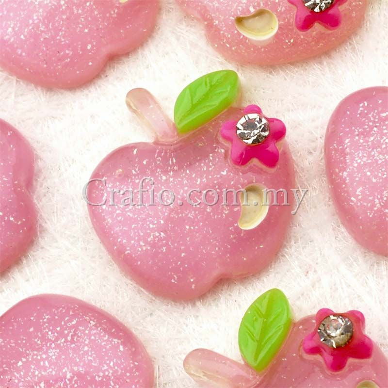 Resin Apple Cabochon