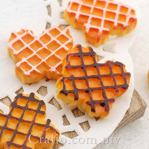 Cabochon Resin Butterfly Waffle