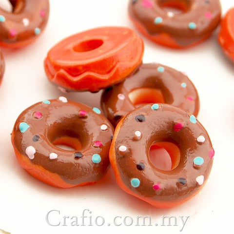 Cabochon Resin Icing Donuts - 6 pieces