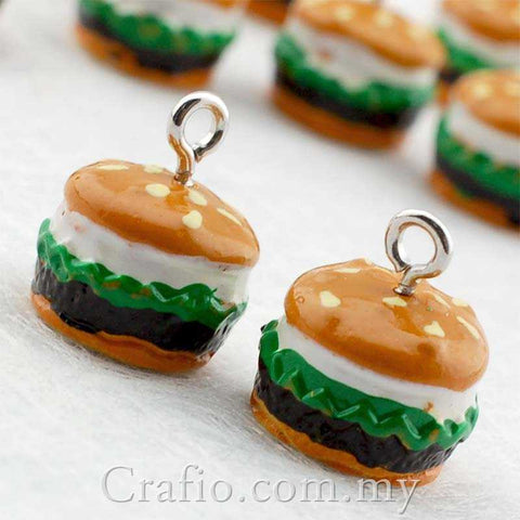 Cabochon Resin Burger with Eye Bolt