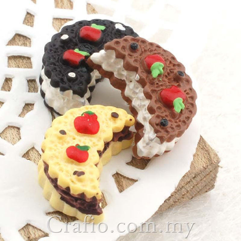 Cabochon Resin Moon Sandwich Cookies