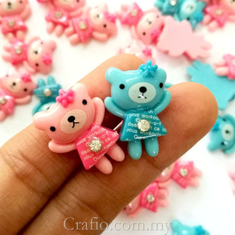 Cabochon Resin Standing Teddy Bear