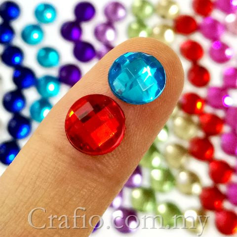 8 mm Globe Cut Rhinestones