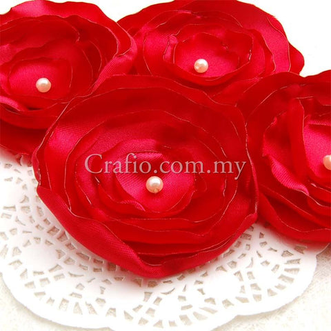 Handmade Satin Flower Embellishments