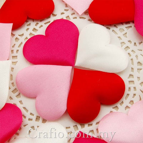 Satin Padded Hearts