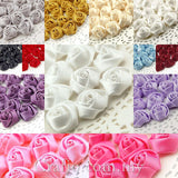 Miniature Satin Roses - 15 mm