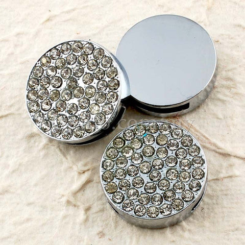 Buckles Rhinestone Studded Solid Round with Wrist Strap