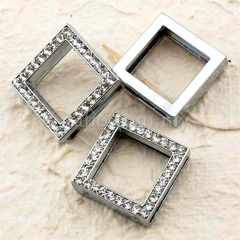 Buckles Rhinestone Studded Square with Wrist Strap