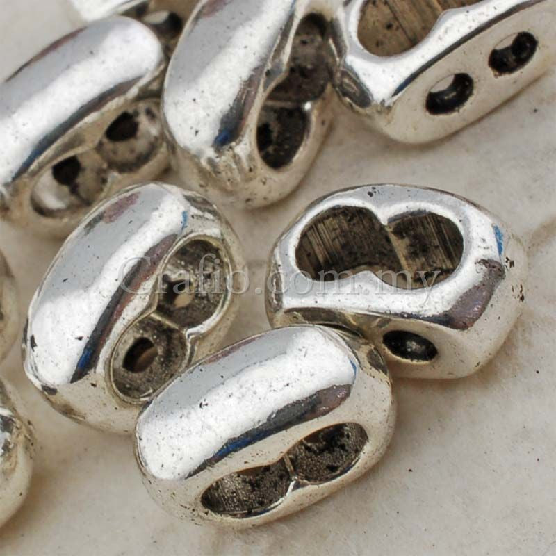 Double Spacer Tibetan Silver Spacer Beads (T15172)