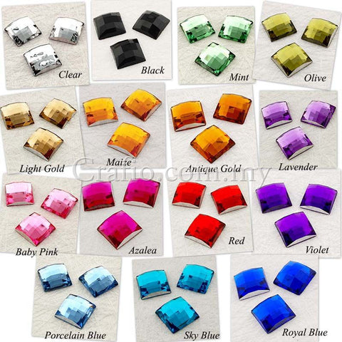 12 mm Square Rhinestones