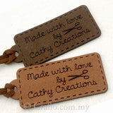 Personalized Microfiber Made-with-Love Suede Tags