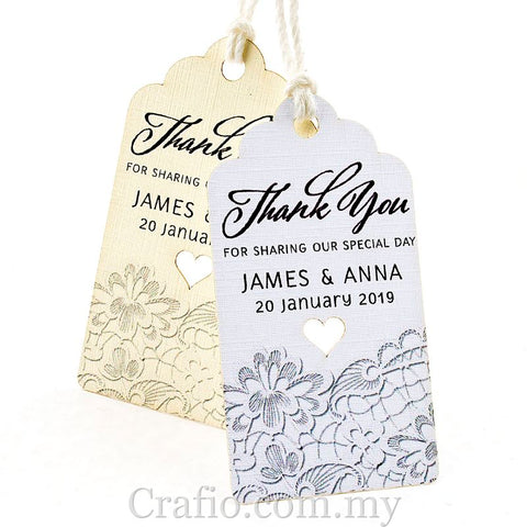 Personalized Thank You for Sharing our Special Day (III) Gift Tags