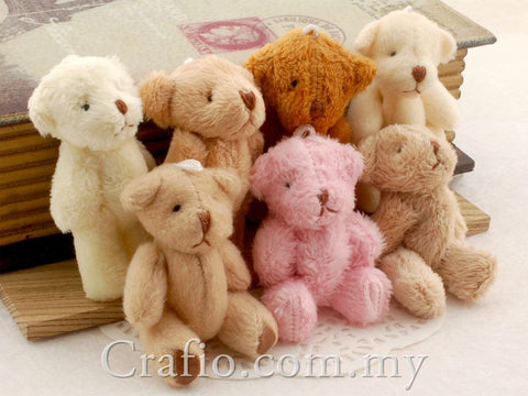 60 mm Mini Teddy Bear - 5 pieces