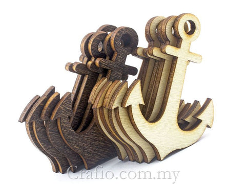 Laser Cut Out Wooden Anchors