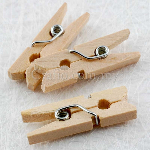 25mm Wooden Mini Clothes Peg