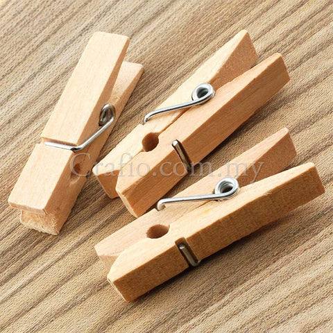 35 mm Wooden Mini Clothes Peg