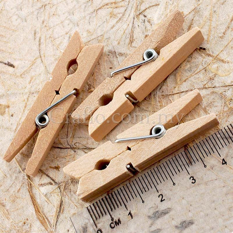 45 mm Wooden Mini Clothes Peg