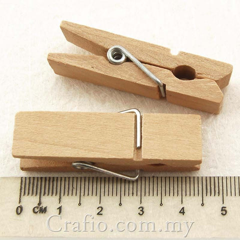 45 mm Jumbo Wooden Mini Clothes Peg
