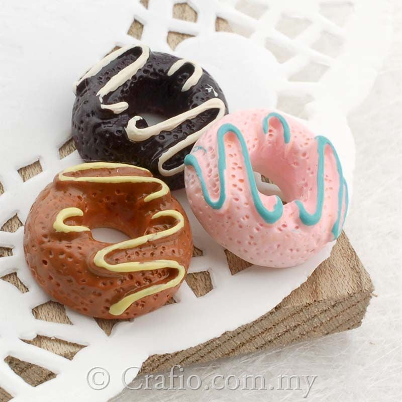 Resin Creamy Donuts Cabochon