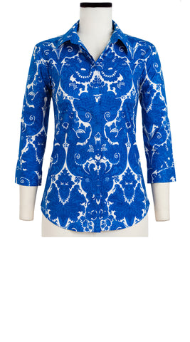 Katharine Shirt 3/4 Sleeve Cotton Stretch (Antoinette)