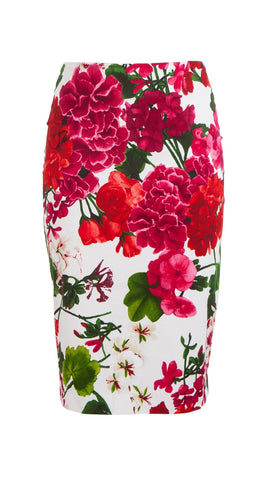 Chloe Skirt Cotton Dobby Stretch (Bougainvillea Blossom)