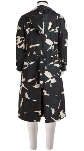 Beverly Coat Shirt With Hood Long Sleeve Silk Poly (Camouflage)