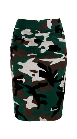 Annette Skirt Cotton Stretch (Camouflage)
